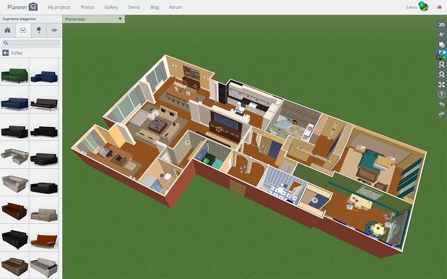 Aplikasi Desain Rumah Planner 5D